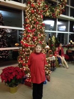 Southwestern student at DSC's Annual Holiday Concert.